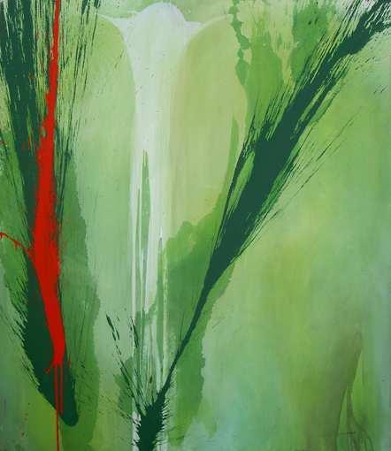 """Aus der Serie """"Auferstehung"""" 170 x 145 cm, Acryl auf Leinen"""