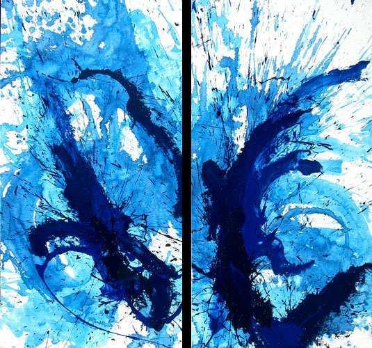 """Aus der Serie """"Auferstehung"""" 2 x  160  x 70 cm, Acryl auf Leinen"""