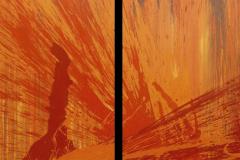 """Aus der Serie """"Auferstehung"""" 2 x  170  x 70 cm, Acryl auf Leinen"""