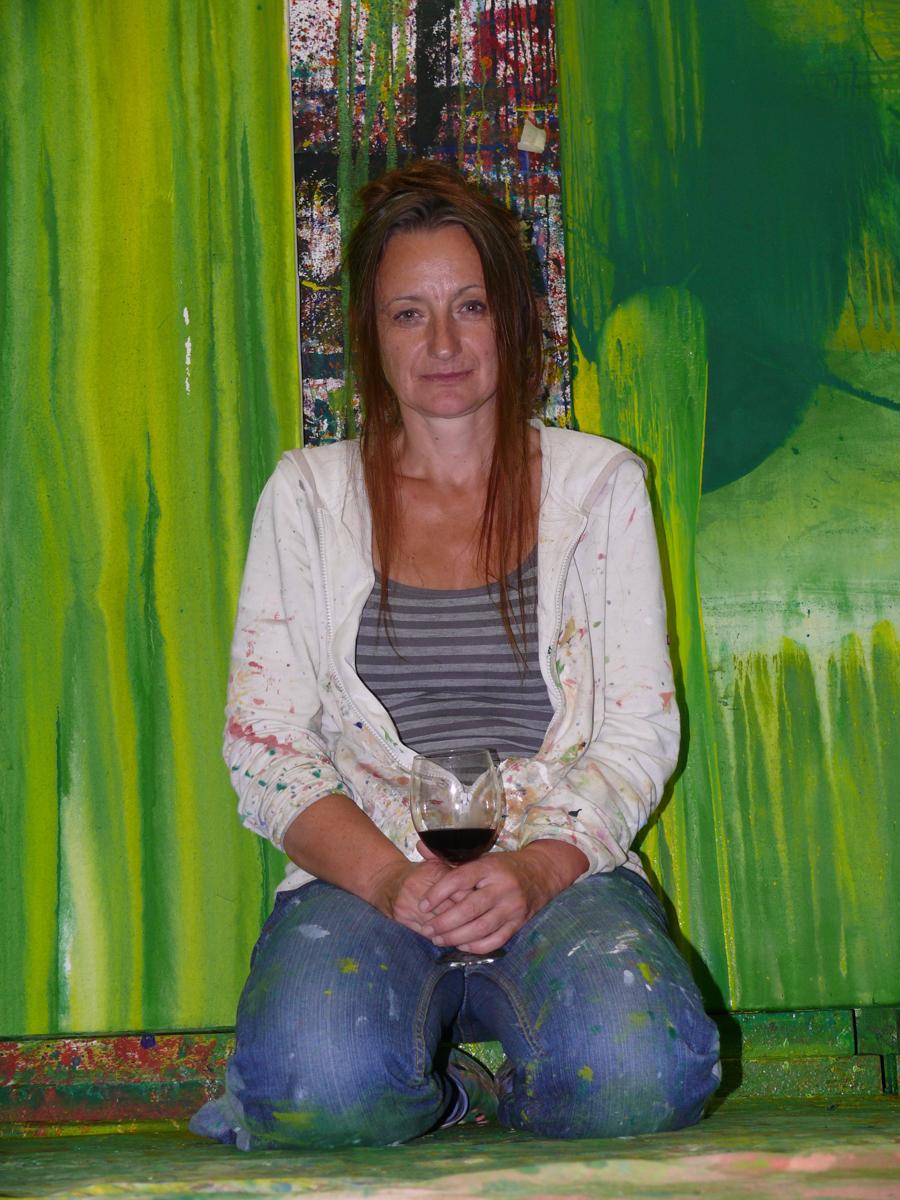Caren Dinges in ihrem Atelier 2010