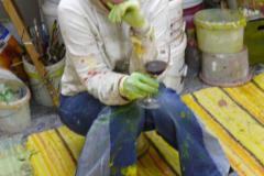 Caren Dinges 2010 in ihrem Atelier