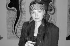 Caren Dinges  in ihrer Ausstellung Galerie Alpha 2005