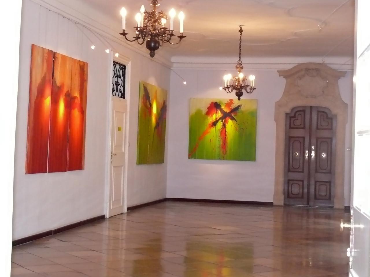 Innenansicht der Ausstellung im Churhaus