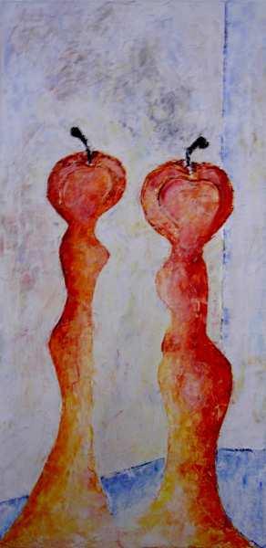 """Aus der Serie """"Eva im Gespräch"""" 100 x 80 cm, Öl auf Leinen"""