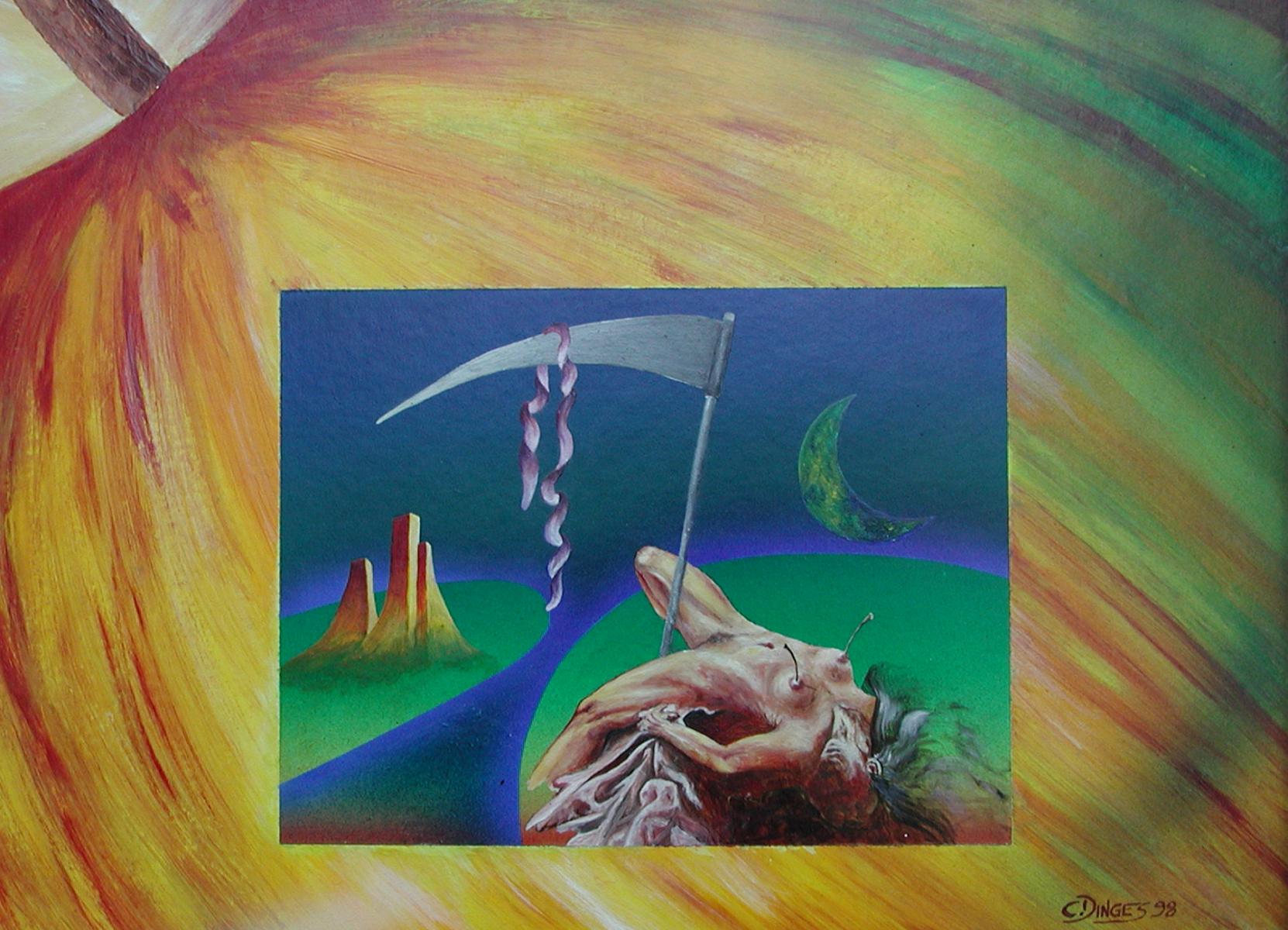 """""""Eva in Erwartung""""  Acryl , Öl auf Karton,  45 x 55 cm"""