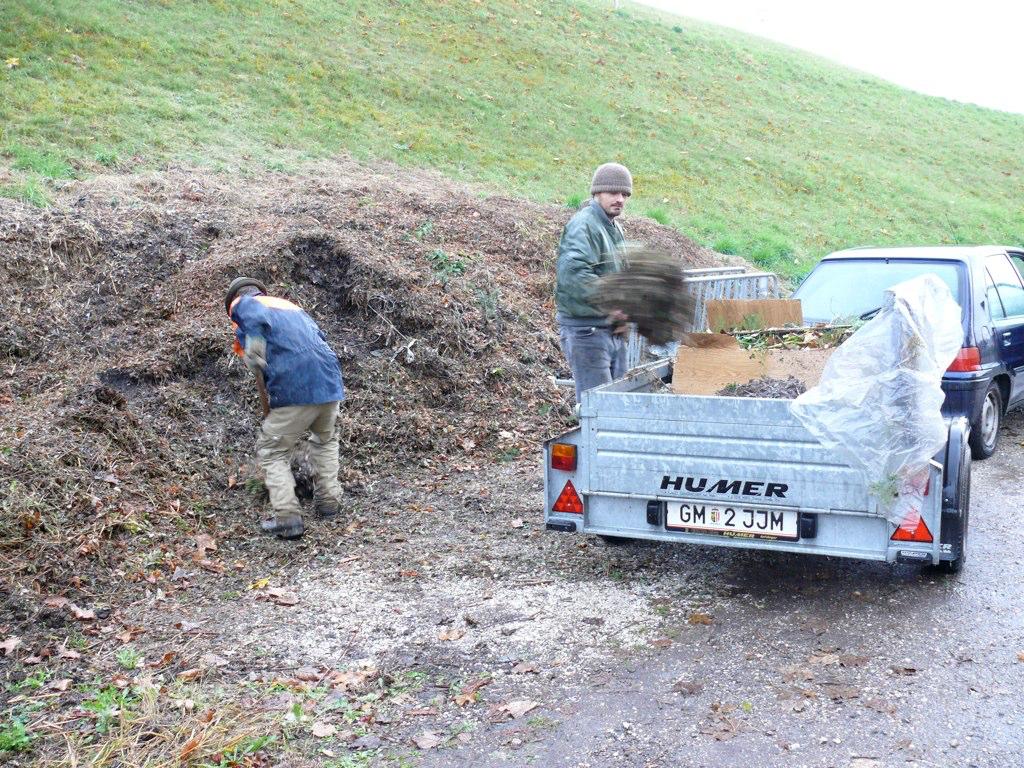 Kompost holen für die Installation