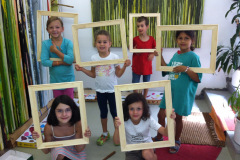 Atelier Caren Dinges, Keilrahmen machen im Sommercamp
