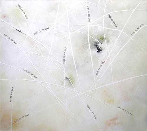 """Aus der Serie """"Kontemplation"""" 145 x 160 cm, Acryl auf Leinen"""