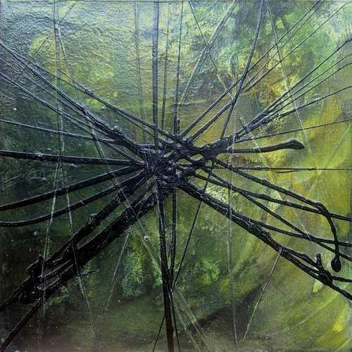 """Aus der Serie """"Kontemplation"""" 50 x 50 cm, Acryl auf Leinen"""
