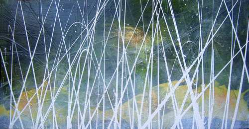"""Aus der Serie """"Kontemplation"""" 50 x 100 cm, Acryl auf Leinen"""