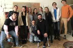 Workshop Maturaklasse, Leinwand bauen & Aktionsmalen, Führung beim Künstler Adel Dauood