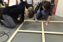 Polytechnische Schule - Malen auf Leinwand