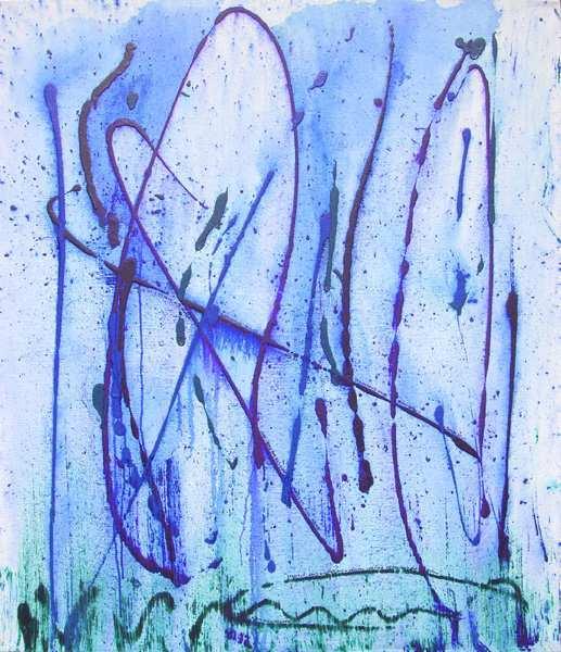 """Aus der Serie SARS """"Mittwoch"""" 115 x 100 cm , Acryl auf Leinen"""