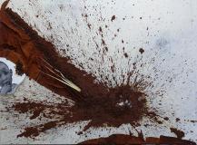 """Aus Terra Mater """"Afrika"""", Acryl und Erde auf Leinwand,  200 cm x 145"""