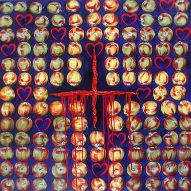 """""""Irrgarten"""", 115 x 115 cm,  Acryl  auf Leinen"""