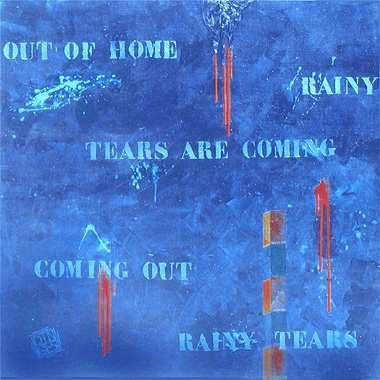 """Out of home"", 115 x 115 cm,  Acryl auf Leinen"