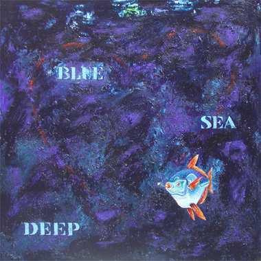"""Deep blue sea"",  115 x 115 cm,  Acryl auf Leinen"